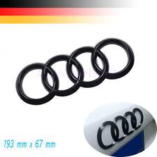 Schwarz Glänzende Ringring-Logo Embleme Für Audi A1 A2 A3 A4 192mm x 67mm