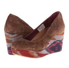 Reef Women's High Tropic Brown Suede Round Toe Wedge Heels Shoes Size 8