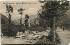 Primi '900 Valle Vermenagna Cuneo Limone metri 1010 panorama FP B/N