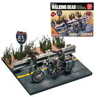 "THE WALKING DEAD "" DARYL WITH CHOPPER "" CONSTRUCTION SET NEW MCFARLANE TOYS"