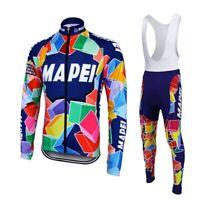Mapei Long Sleeve Retro Cycling Jersey Bib Pant