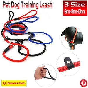 Cesar Millan Pet Dog Nylon Rope Training Leash Dogs Chain Slip Collar Walking AU