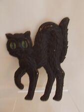 """GERMAN ~ 6.5"""". ~ GERMAN ~ Green Eyed ~ Hunched Back ~ BLACK CAT ~ Die Cut #2"""