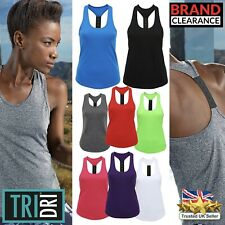 Training Vest Yoga Running Gym Tri Dri Strap Vest Ladies Mixed Colours Dri Fit