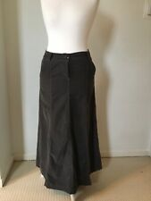 Boden 10 L Brown Slate Cord Corduroy Maxi Skirt Flare Cotton Pockets