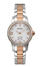 Bulova Accu Swiss Women's 65R139 Masella Diamond Accents Two-Tone 31mm Watch