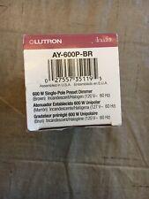 Lutron AY-600P-BR Ariadni 600-watt  Single-Pole  Dimmer, Brown