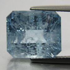 12.30Cts Natural Ravishing Aquamarine Emerald Cut Loose Brazil Gemstone Ref-VDO
