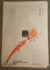 Ian Dury and the Blockheads 1979 press advert Full page 30 x 42 cm mini poster