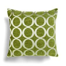 Oh! Cushions Luxury Chenille FILLED Cushion Lime Green 55cm x 55xm (621)