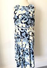 Papaya Size 18 Sleeveless Summer DRESS Blue Floral Fab Holiday Ribbon Belt