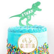 "7.5/"" 19cm DINO BLAST T-REX PERSONALISED WAFER//FONDANT PAPER CAKE TOPPER"