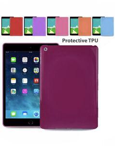 "Silicone TPU Smooth Flexible Cover Back Case For iPad 2 3 4 5 6 5.7"" Air Mini"
