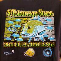 """1 EACH 5/"""" GENUINE HAWAIIAN STYLE HAWAII ULUA FISHING DECAL NEW!"""
