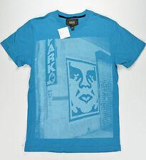 Obey Männer T-Shirt New York S/S Tee Größe S Turquise