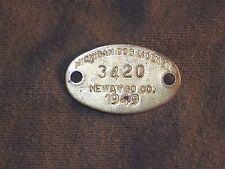 Vintage Dog License Tax Tag Newaygo County Michigan MI 1949   #3420      da24