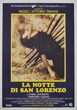 Paolo e Vittorio Taviani LA NOTTE DI SAN LORENZO manifesto 2F originale 1982