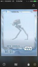 Topps Star Wars Digital Card Trader White Hoth AT-ST Insert