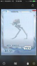 Topps Star Wars Digital Card Trader White Hoth AT-ST Insert