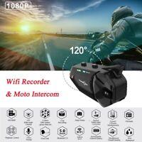 Group Motorcycle BT 5.0 Wireless Helmet Interphone HD 1080P WiFi Camera FM Radio