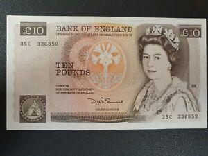 1980 Elizabeth II £10 banknote