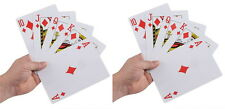"2 DECKS GIANT SUPER JUMBO 5"" X 7"" PLAYING CARDS 5x7 INCH INCHES LARGE HUGE BIG"