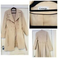 LADIES BEIGE TRENCH/COAT SIZE 14 Eur 42 By George Outerwear (941)