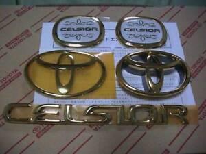 NEW Toyota UCF 30 31  Celsior Genuine Gold Emblem Pillar Emblem Set OEM JDM