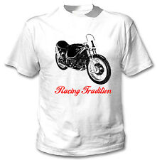 AJS E95 1954  INSPIRED - NEW WHITE COTTON TSHIRT ALL SIZES IN STOCK