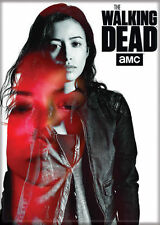 The Walking Dead (TV Series) Black & White & Red Photo Quality Magnet: Rosita