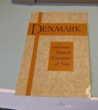 1933 Chicago World's Fair Denmark Science Exhibit Guide Book Neils Bohr 38pg