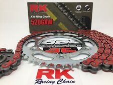 Red 2004-09 Yamaha FZ6 RK GXW520 16/46 OEM Ratio Chain and Sprocket Kit FZ-6