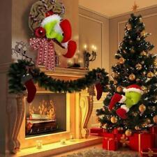 How the Christmas thief Stole Christmas Burlap Wreath Christmas Decoration