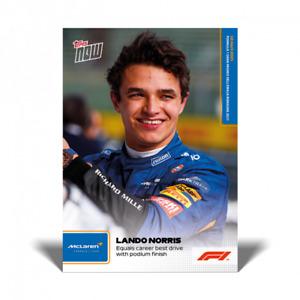 2021 Topps Now Formula 1 #5 Lando Norris McLaren Podium F1 PRESALE
