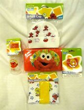 Sesame Street Elmo Infant Cap,Bottle,Pacifier,Wipers Travel Case,Washclothes-New