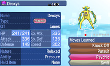 Pokemon Ultra Sun and Moon - 2004 American Event Shiny Deoxys 6 IV Trade