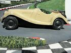 SCALEX 1950S TINPLATE MG TF  CREAM  USED UNBOXED