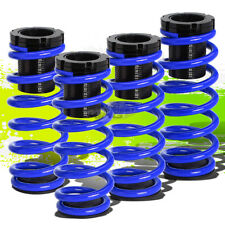 "FOR 85-98 VW GOLF/JETTA FRONT+REAR RACING COILOVER 1-3""LOWERING COIL SPRING BLUE"