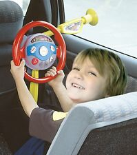 Electronic Sound & Light Car Backseat Back Seat Driver Kids Steering Wheel Toy