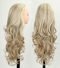 3/4 Wig Half Fall Natural Hair Fall Highlights Wig Brown Mixed Blonde Wig Fall