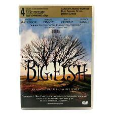 Big Fish Dvd Widescreen Tim Burton Jessica Lang Ewan McGregor