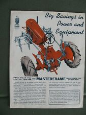 Case Model VC Tractor and Masterframe Implement Brochure