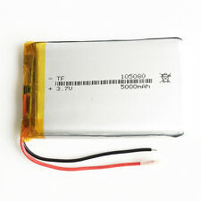 5000mAh 3.7V LiPo polymer Rechargeable Battery 105080 For Power Bank Tablet PC