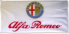 FREE SHIP TO USA Big NEW ALFA ROMEO WHITE FLAG BANNER SIGN 3X5 FEET MITO BRERA