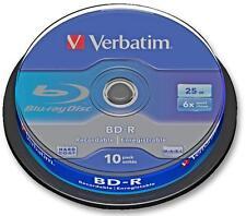 Blu Ray BD-R 6X SPINDLE X10 BLANK MEDIA e della memoria ottica, BLU RAY, BD-R,