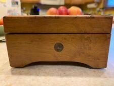 Antique Swiss Inlaid Wood Cylinder Music Box- works !