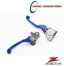 ZETA CNC BLUE FLEXIBLE LEVER SET YAMAHA YZ125 YZ250 2015 - 2017
