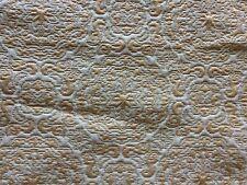 Vintage Brocade Fabric Frag Gold Cream Shabby Upholstery Pillows