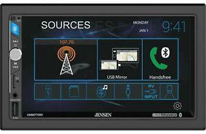 """Jensen CMM7720 Double Din 7"""" Touchscreen LCD Mechless USB Mirror Bluetooth"""