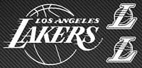 LA LAKERS Logo Vinyl Sticker Decal Laptop Car Truck NBA los angeles basketball